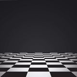 Chess floor. On a dark background Stock Photography