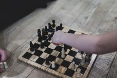 Chess on the floor royalty free stock photo