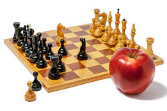 Chess food for thought Stock Image