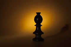 Chess fool on drama light Royalty Free Stock Images
