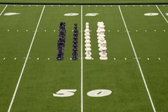 Chess Football Chess Formation Stock Images