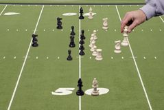 Chess Football With Offensive Coach Royalty Free Stock Image