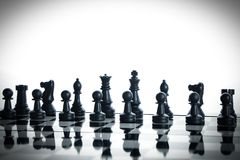 Chess full army Royalty Free Stock Images