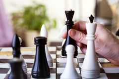 A chess game Stock Images