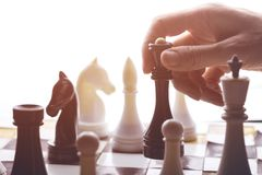 A chess game Royalty Free Stock Photography