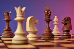Chess game. Close-up of chess set Stock Images