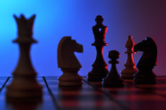 Chess game. Close-up of chess set Royalty Free Stock Image