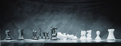 A Chess Game Royalty Free Stock Photos