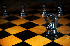 Chess game. Detail photo of the chess game royalty free stock image