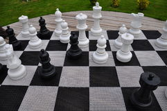 Chess game. Board of a chess game Royalty Free Stock Photo