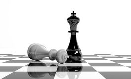 Chess game royalty free illustration