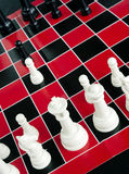 Chess Game Board  Red Black White Colors Royalty Free Stock Photos