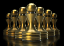 Chess game abstract Royalty Free Stock Photos