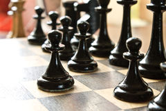 Chess game abstraction Stock Photos