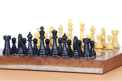 Chess game with all pieces on the board Royalty Free Stock Photos