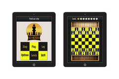 Chess Game App Template for mobile app and website design Stock Images