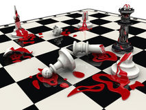 Chess game. The black pieces won Stock Images