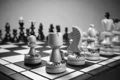 Chess game in black and white Stock Photography