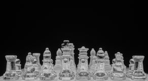 Chess game, black and white Royalty Free Stock Photography