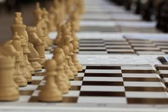 Chess game on board Royalty Free Stock Photography