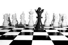 Chess game board. Sports strategy Royalty Free Stock Photos