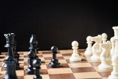 Chess game. On board close up Stock Image