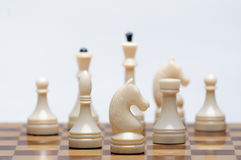 Chess game. A Chess Board with figures Stock Photos