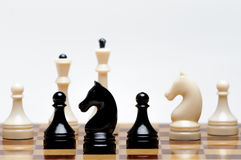 Chess game. A Chess Board with figures Royalty Free Stock Photo