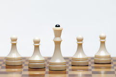 Chess game. A Chess Board with figures Royalty Free Stock Image