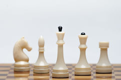 Chess game. A Chess Board with figures Royalty Free Stock Photography