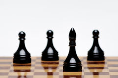Chess game. A Chess Board with figures Royalty Free Stock Photos