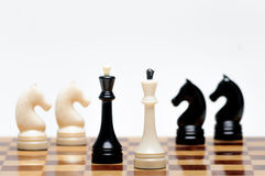Chess game. A Chess Board with figures Royalty Free Stock Images