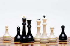 Chess game. A Chess Board with figures Stock Photography