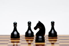 Chess game. A Chess Board with figures Stock Photo