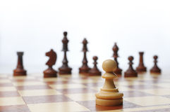 Chess game board scene Royalty Free Stock Photos