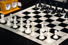 Chess Game Board Timer Book Detail Royalty Free Stock Photos