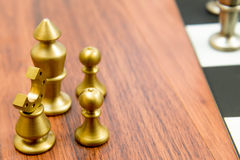 Chess game - captured pieces on side of the chessboard Stock Images