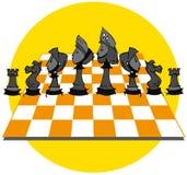 Yellow Chess Game, Cartoon Stock Photos