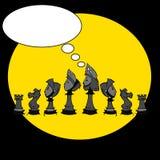 Chess game, cartoon Stock Photography