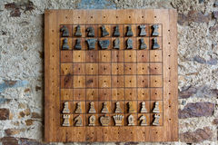 Chess game - castle Velhartice Stock Photography