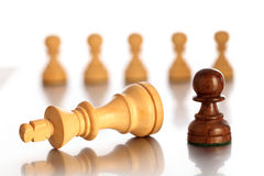 Chess game-checkmate Stock Photo