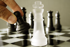 Chess game-Checkmate Royalty Free Stock Photo