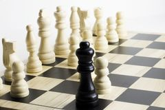 Chess game. Checkmate and stalemate. stock photo