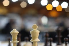Chess Game of chess. Chess. White board with chess figures on it. Brain, strategy and success. Business strategy planning concept. Business strategy planning royalty free stock photography