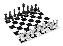 The chess game Royalty Free Stock Photo