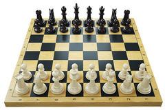 Chess game. Chessboard and chess pieces Royalty Free Stock Image
