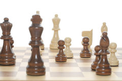 Chess game close up Royalty Free Stock Image