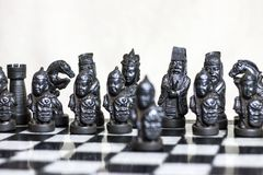 Chess game, close up. royalty free stock photo