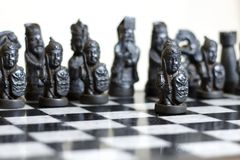 Chess game, close up. stock images