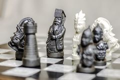 Chess game, close up. royalty free stock photography